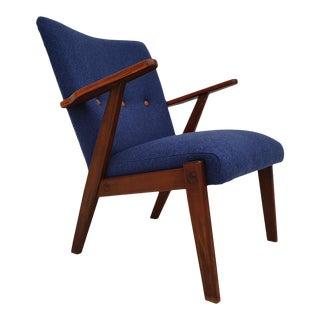 1960s Beech Wood Danish Armchair For Sale