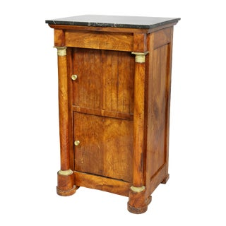 French Empire Walnut Bedside Cabinet For Sale
