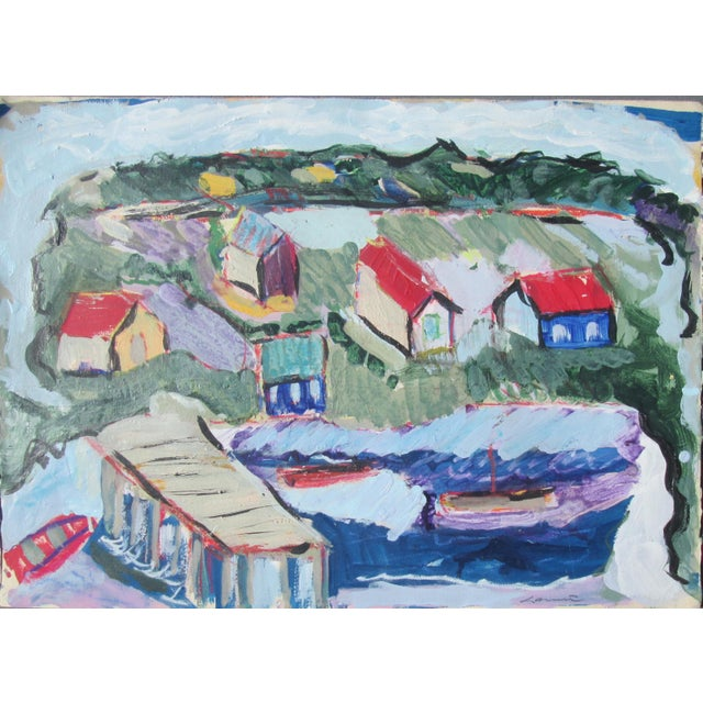 Seaside Village Monterey Contemporary Painting For Sale - Image 6 of 6