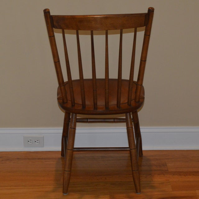 Vintage L. Hitchcock Maple Harvest Dining Side Chair For Sale In New York - Image 6 of 7