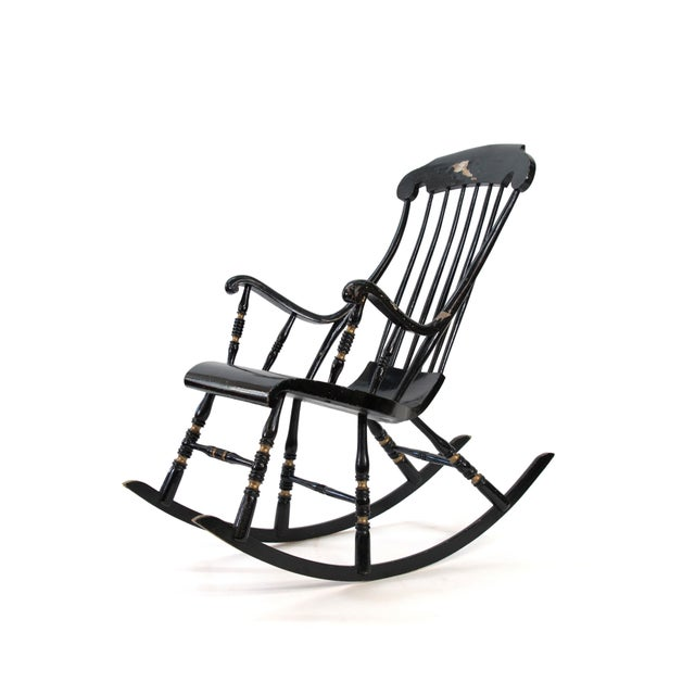 19th Century Vintage Swedish Gungstol Rocking Chair For Sale - Image 12 of 12