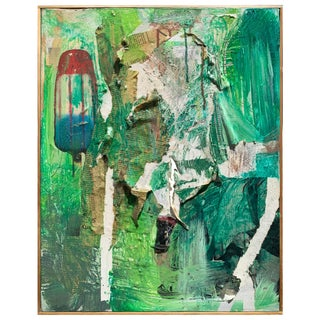 Green Deconstructed Abstract Rocket Pop Painting For Sale