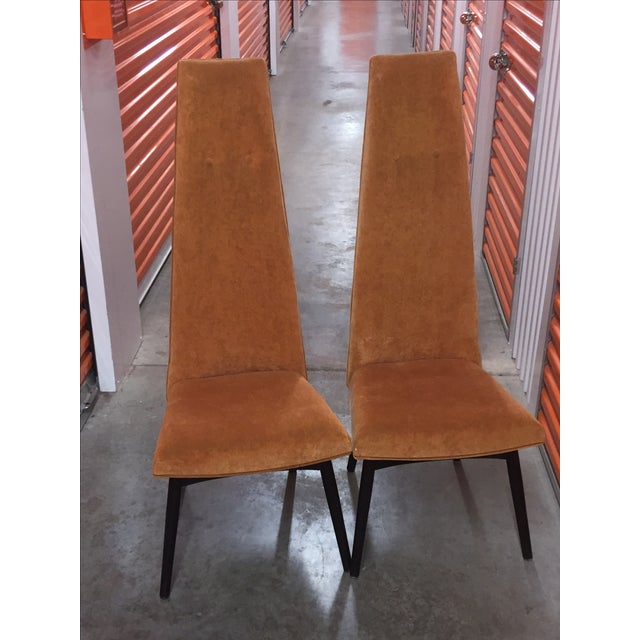 Adrian Pearsall High Back Chairs - Pair - Image 2 of 3