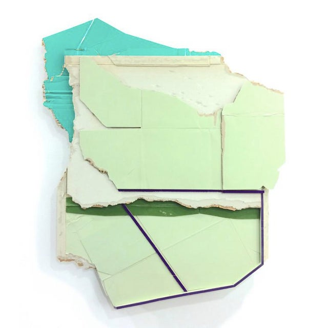 mainland, 2015 Found unpainted cardboard and foamcore by Ryan Sarah Murphy.