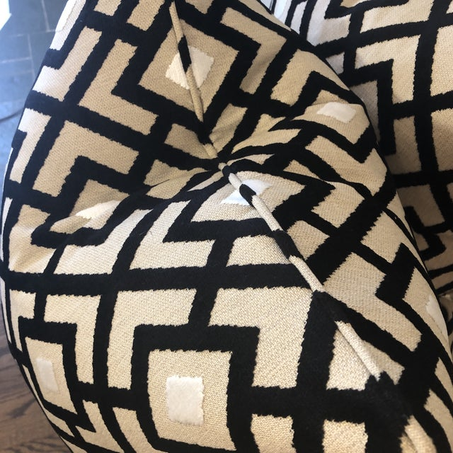 "Transitional Clarke & Clarke ""Arlington"" in Ebony 22"" Pillows-A Pair For Sale - Image 3 of 7"