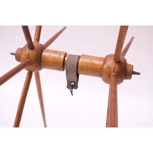 Brown Vintage Primitive Yarn Winder / Yarn Swift For Sale - Image 8 of 13