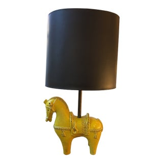 1960s Aldo Londi for Bitossi Ceramic Horse Lamp For Sale