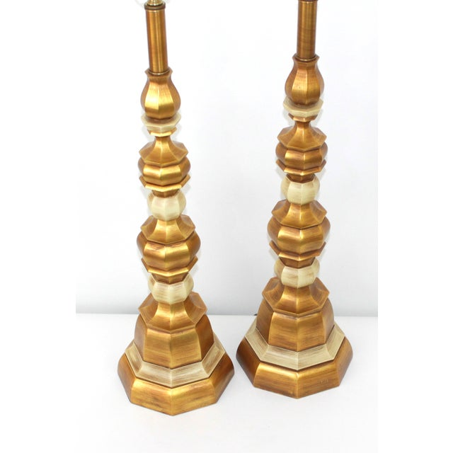 Hollywood Regency Italian Giltwood Lamps - Pair - Image 8 of 8