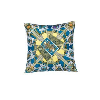 """""""Dame De Coeur a Vous L'honneur"""" Hermès Silk Scarf Pillow For Sale"""
