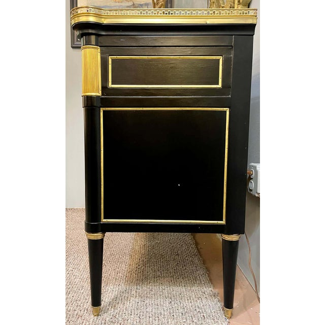 Black Maison Jansen Style Hollywood Regency Commodes or Chests / Nightstands a Pair For Sale - Image 8 of 13