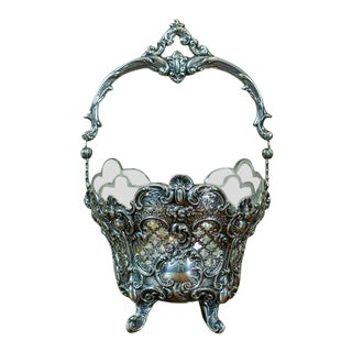 20th-Century Silver Basket For Sale
