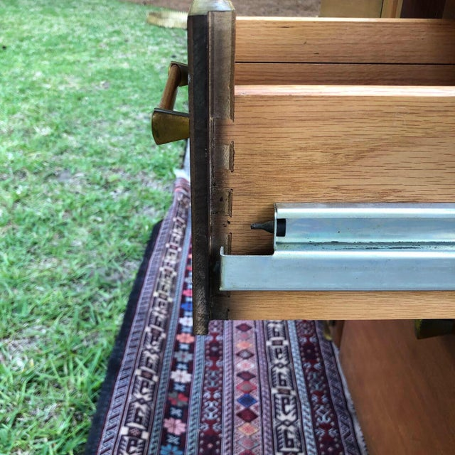 Mid-Century Modern Custom Made Filing Cabinet/Credenza For Sale - Image 9 of 11
