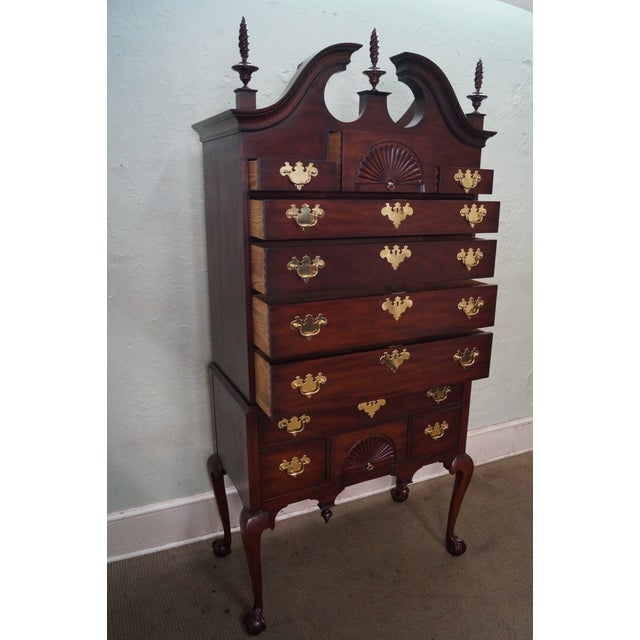 """Henkel Harris """"Spnea"""" Ball & Claw Foot Chippendale Mahogany Highboy For Sale - Image 9 of 10"""