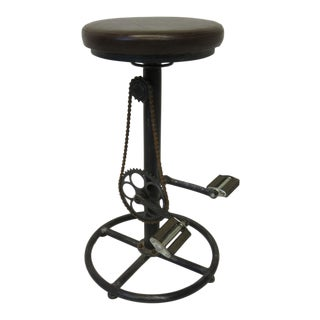 Folk Art Industrial Bicycle Seat Stool For Sale