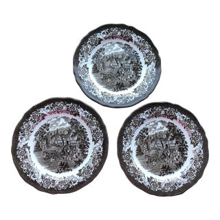 Vintage Royal Staffordshire Ironstone Plates - Set of 3 For Sale