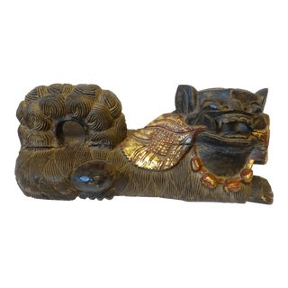 Chinese Hand Carved Foo Dog Statue