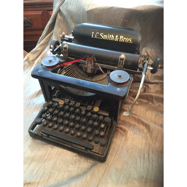 Industrial Antique Smith Brothers Typewriter For Sale - Image 3 of 6