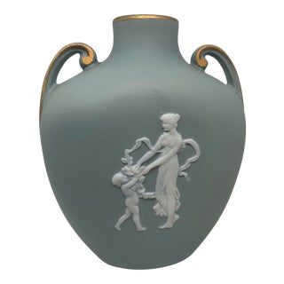 Tharaud Limoges Greek Revival Pate-Sur-Pate Cameo Vase For Sale