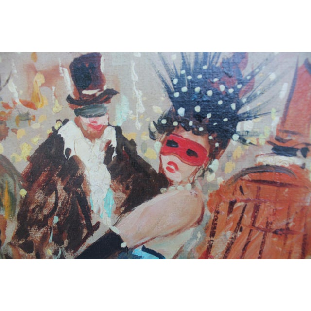 Famous Historical Carnival Of Masks Venice Italy Oil On Canvas Painting By Ficall For Sale In Miami - Image 6 of 11