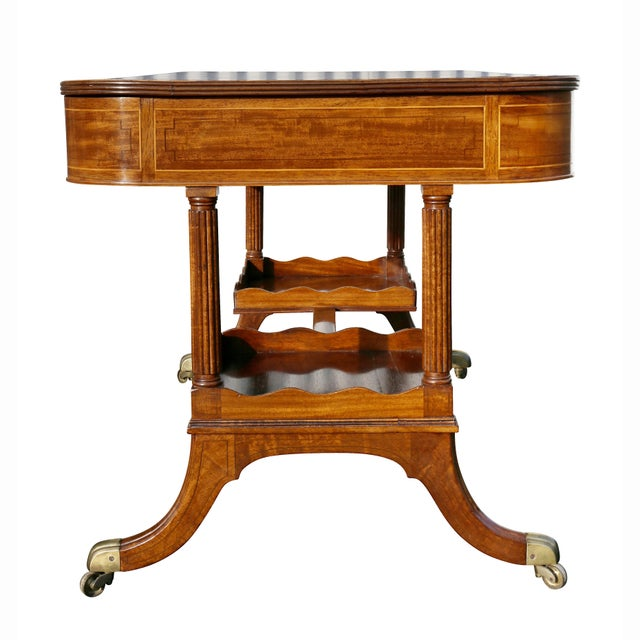 Regency Mahogany Writing Table For Sale - Image 10 of 13