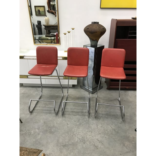 1970s Bar Stools by Stendig - Set of 3 For Sale - Image 13 of 13