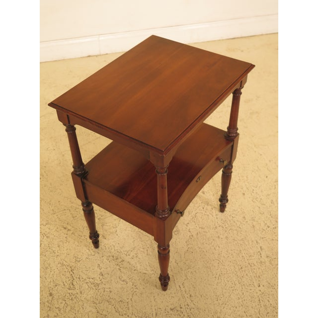 Statton solid cherry 1 drawer nightstand table. Features solid cherry and dovetailed drawer construction.