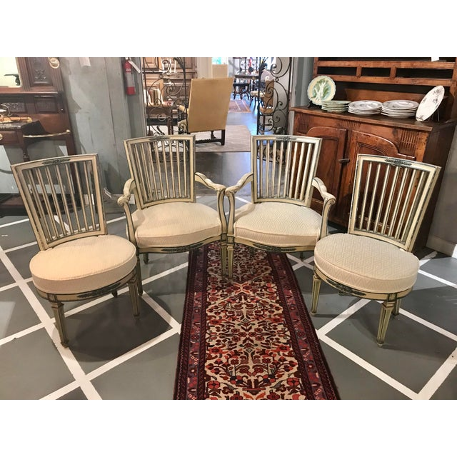 Classical Italian Dining Chairs Set of 4 For Sale - Image 12 of 12