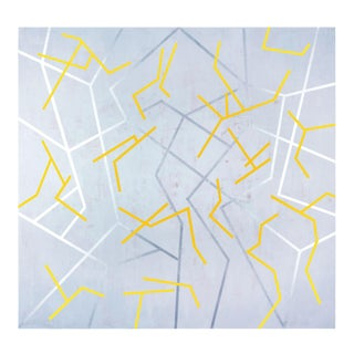 """Gudrun Mertes-Frady """"Dancing Yellow"""", Painting For Sale"""
