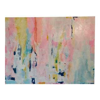 """Hold You Again"" Original Abstract Art on Canvas by Michelle Chong For Sale"