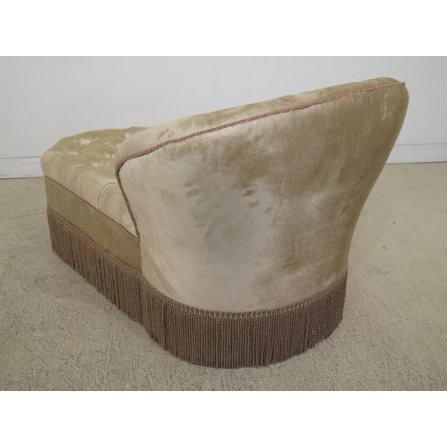 White 1990s Vintage Custom Upholstered Tufted Chaise For Sale - Image 8 of 12