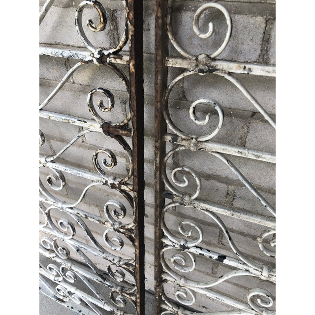 19th Century Victorian Wrought Iron Balustrade Sections - a Pair For Sale - Image 11 of 13