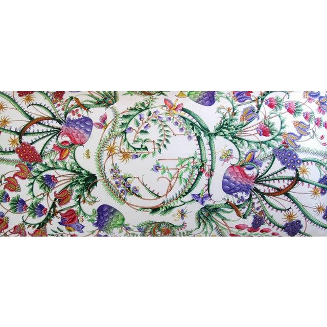 Designer Italian Gucci Floral Fanni Silk Pillow - Image 10 of 11