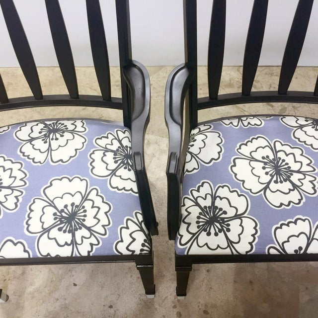Vintage Black and Lavender Chairs - A Pair - Image 3 of 8