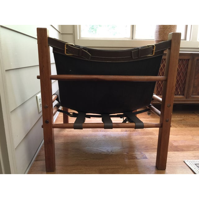 Arne Norell Style Campaign Sling Chair For Sale In Atlanta - Image 6 of 11