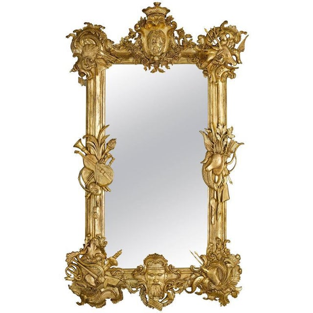 19th Century Gilded Mirror For Sale - Image 4 of 4