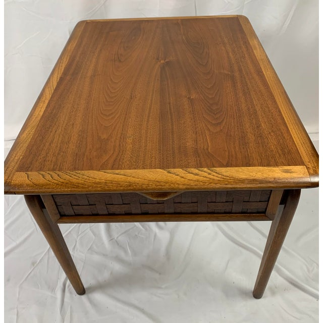1960s Lane Perception Walnut End Table For Sale In Charlotte - Image 6 of 8