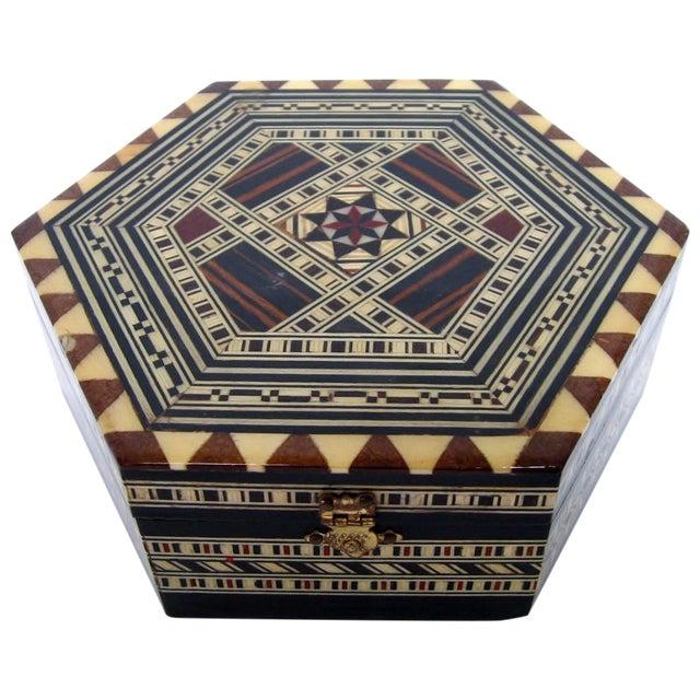 Boho Chic Inlay Wood Box - Image 1 of 8