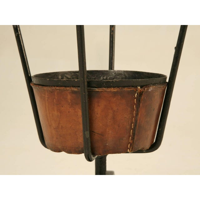 Brown Jacques Adnet Umbrella Stand For Sale - Image 8 of 10
