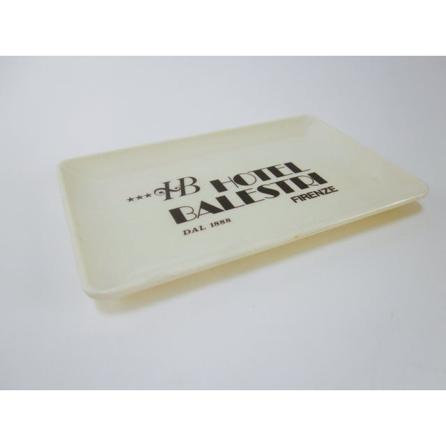 Vintage Hotel Balestri Italian Tip Tray - Image 2 of 6