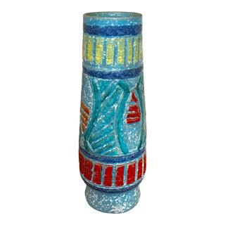 Textured Italian Pottery Vase For Sale