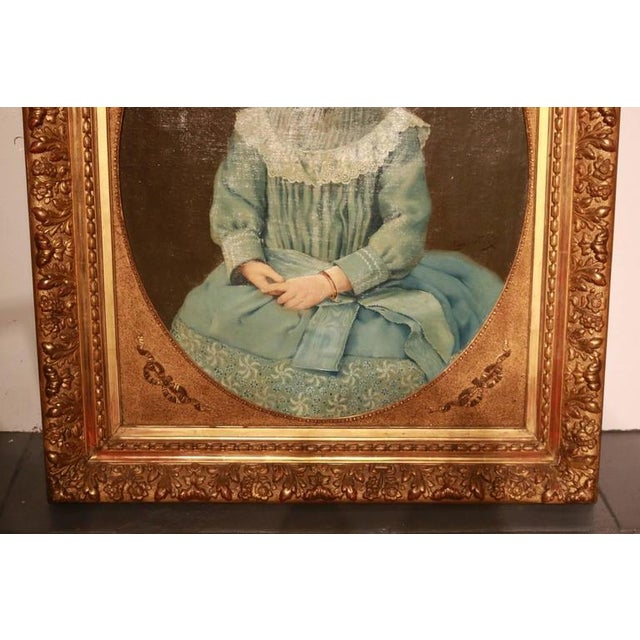 Early 19th Century New England Portrait Signed Roy Ulysso - Image 2 of 8