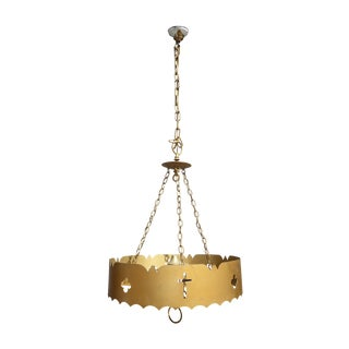 Gold Metal Hanging Ceiling Light