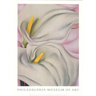 Georgia O'Keeffe - Two Cala Lilies on Pink - 1990 For Sale
