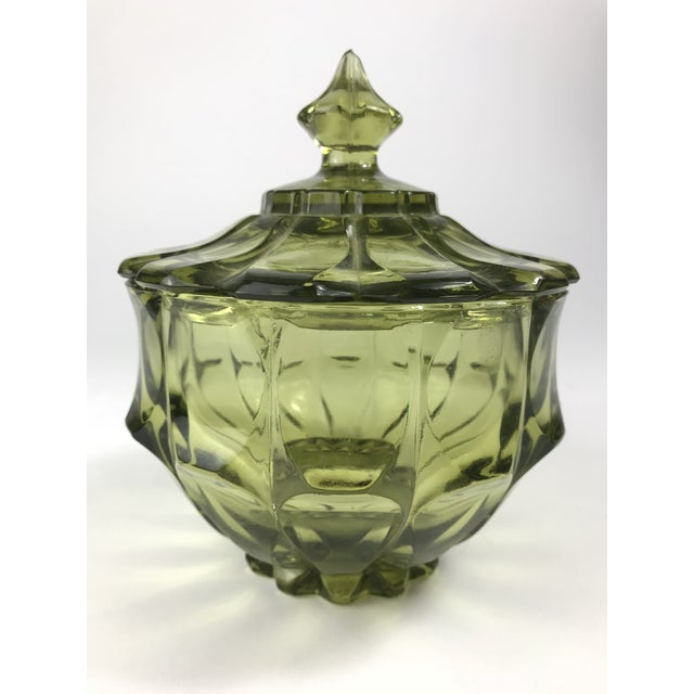 1970s Traditional Fenton Glass Covered Candy Dish For Sale - Image 10 of 10
