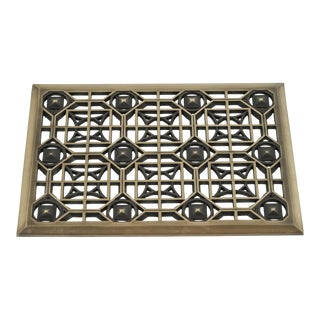 Vintage Historical Arts and Casting Bronze Grille For Sale