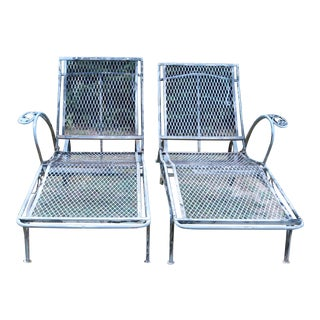 1950's Vintage Salterini Chaise Lounges-A Pair For Sale