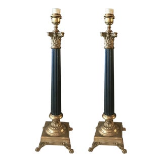 Tommy Hilfiger Empire Style Table Lamps - a Pair