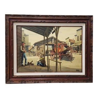 """Alfred Owles (1894-1978) """"The Long Wait"""" Original Watercolor C.1970s For Sale"""