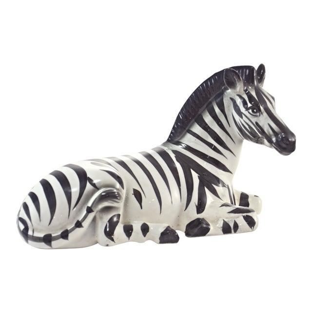 Italian Hand Painted Zebra For Sale
