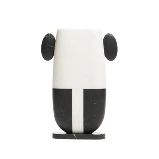 Matteo Cibic White and Black Marble Vase For Sale